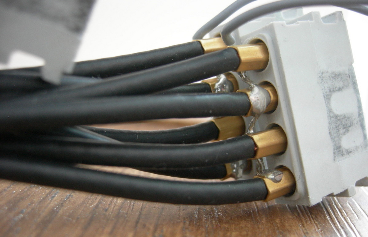 Coax connection detail