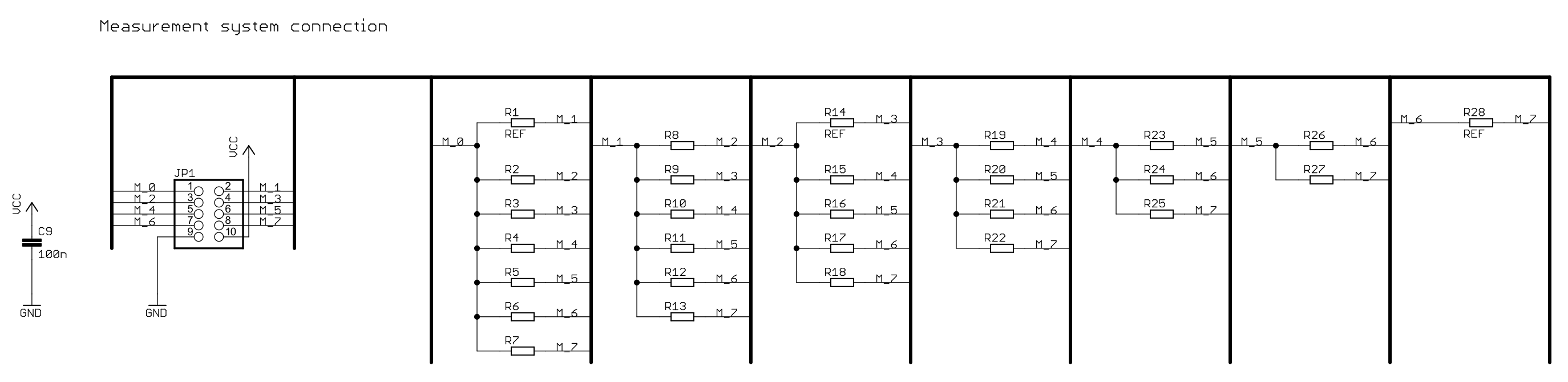 Measured board resistor connections